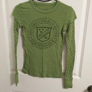 aero green layered long sleeve shirt